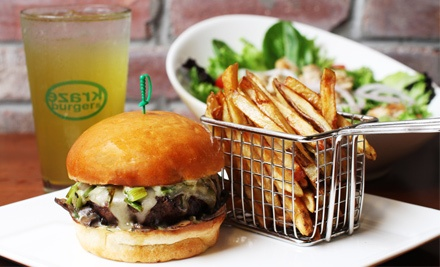 Burgers and Fries for Two or Four at Kraze Burger (Up to 54% Off)