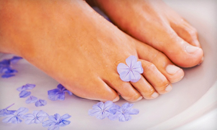 Elysian Fields Day Spa - Whitby: Spa Mani-Pedi Package with Optional Facial at Elysian Fields Day Spa in Whitby (Up to 58% Off)