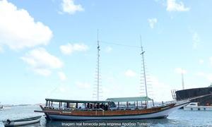 Apolônio Turismo: Apolônio Turismo – Comércio: passeio de escuna para as Ilha dos Frades e Itaparica para 1, 2 ou 4 pessoas
