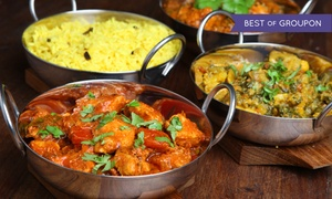 The Curry Club: Indian Dinner for Two or Four or $35 for $65 Worth of Indian Food at The Curry Club