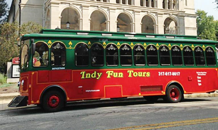 Indy Fun Trolley Tours - In Front of Dick's Last Resort: Trolley Tour of Indianapolis for One or Two at Indy Fun Trolley Tours (50% Off)
