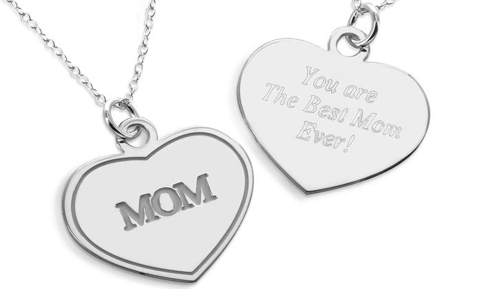 ShopOnlineDeals.com: Personalized Mom Heart Pendant from ShopOnlineDeals