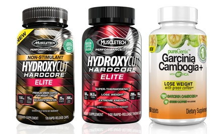 100-Count Bottle of Hydroxycut Hardcore Plus PureGenix Garcinia Supplements