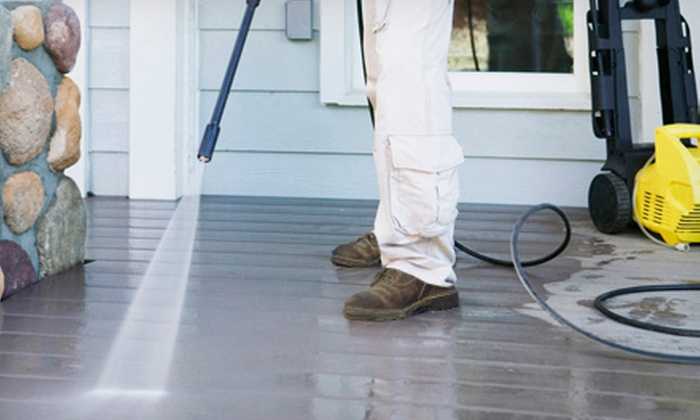 Jack's Painting Service, LLC - South Portland: Power Washing for a Deck, Patio, Sidewalk, or Home Exterior from Jack's Painting Service, LLC (Up to 75% Off)