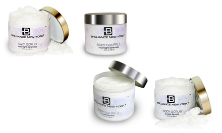 Brilliance New York Full-Body Skincare Bundle with Body Soufflé and Salt Scrub