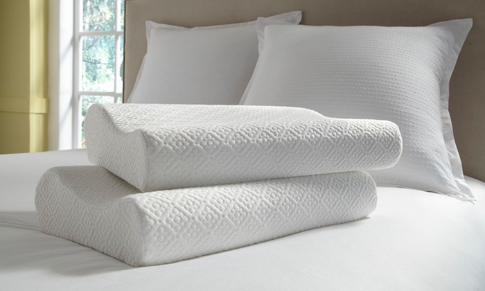 2-Pack of kathy ireland Resort Memory-Foam Contour Pillows: kathy irelandResort 2-Pack of Memory-Foam Contour Pillows. Free Shipping.
