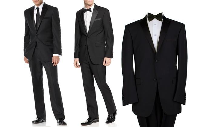 Fellini Men's 2-Piece Tuxedo with Free Dress Socks: Fellini Men's 2-Piece - Fellini Men's 2-Piece Tuxedo Groupon Goods