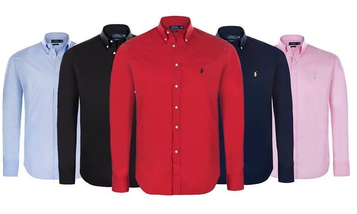 b1557af5f59f Ralph Lauren overhemden - 8 kleuren   Groupon Goods
