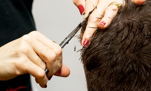 Salon Tres Ci: $13 for a Men's Haircut with Hot Towel Treatment and Hand Massage at Salon Tres Ci ($35 Value)