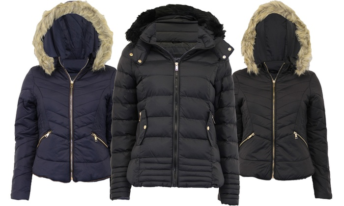 Women s Quilted Parka Jacket ... 3437c02d28