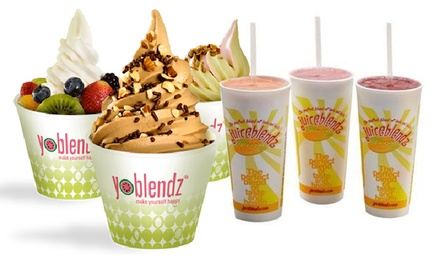 $6 for $10 Worth of Smoothies and Frozen Yogurt, or Two 16-ounce Juices at Juiceblendz (Up to Half Off)