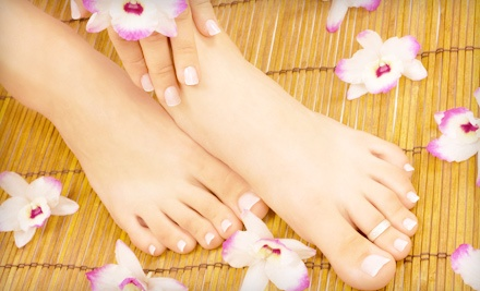 Washington DC: Lavender Mani-Pedi with Paraffin Treatment, Orange Blossom Massage, or Both at Edge Salon & Spa (Up to 65% Off)