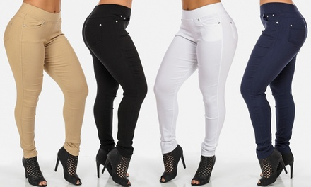 Women's High-Waisted Jeggings