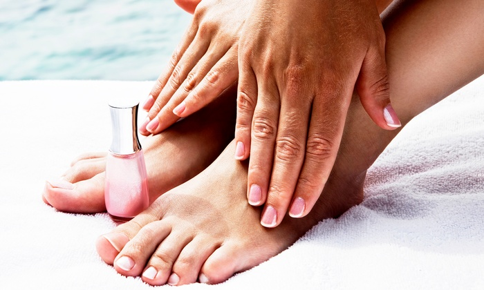 Michael Anthony Salon & Spa - Goose Island: Signature Mani-Pedis for One or Two or Three No-Chip Manicures at Michael Anthony Salon & Spa (Up to 61% Off)