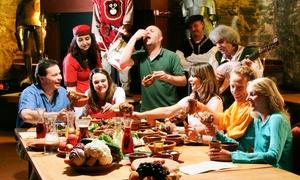 Kauzenburg: Großes Gelage an der Rittertafel mit 7 Gängen für 1 oder 2 Personen auf der Kauzenburg (25% sparen*)