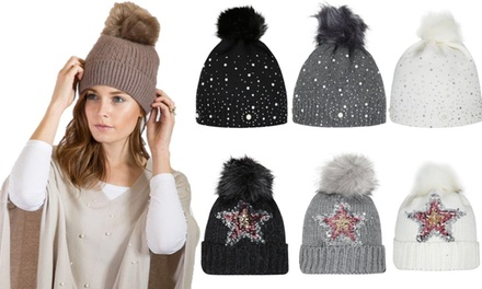 Kurt Muller Faux Fur Bobble Hat in Choice of Design