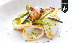 La Cicala da Gennaro: Menu di pesce gourmet con bottiglia di vino (sconto 68%)