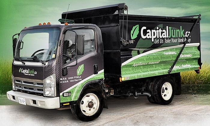 CapitalJunk.ca - Ottawa: 1/4 Truckload or 1/2 Truckload of Full-Service Junk Removal from CapitalJunk.ca (Up to 61% Off)