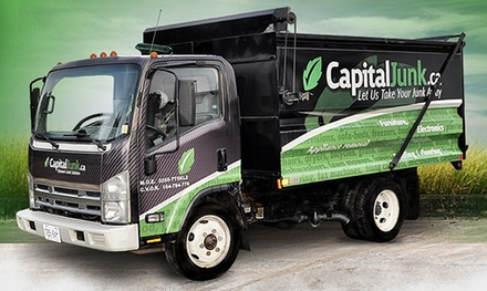 1/4 Truckload or 1/2 Truckload of Full-Service Junk Removal from CapitalJunk.ca (Up to 61% Off)