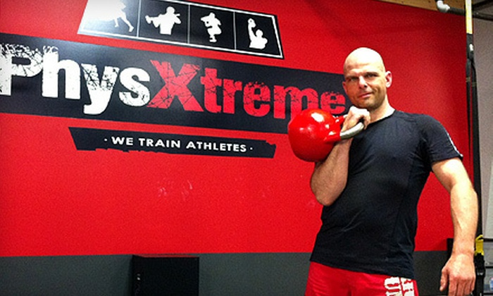 PhysXtreme - District Saint - Raymond - Vanier: Four or Eight Kettlebell Classes at PhysXtreme in Gatineau (Up to 81% Off)
