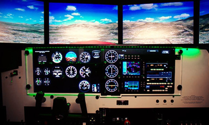 U.S. Aviators - Lake Balboa: 30-Minute Flight-Simulator Piloting Experience for One or Two at U.S. Aviators (Up to 53% Off)