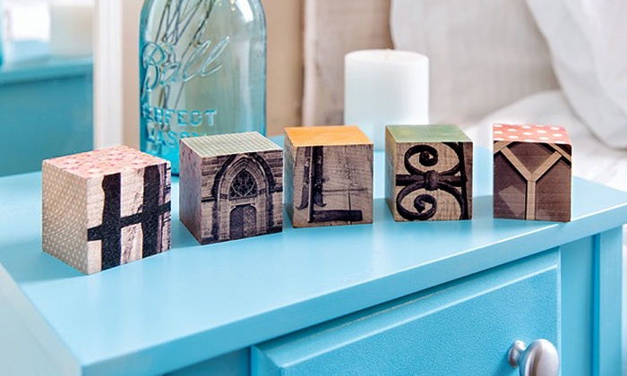 Frame the Alphabet: Five or Eight Custom Letter Blocks from Frame the Alphabet (Up to 63% Off)