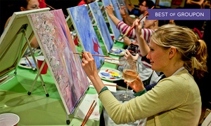 Paint Nite: Two-Hour Social Painting Event for One, Two, or Four from Paint Nite (Up to 44% Off)