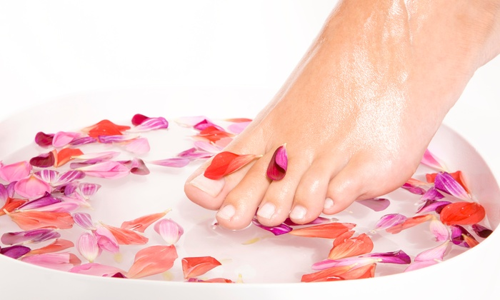 Glow Salon Spa - Oakville: Mani-Pedi for One or Two at Glow Salon Spa (Up to 58% Off). Four Options Available.