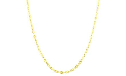 14K Solid Gold Diamond Cut Valentino Chain from $59.99–$94.99