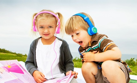JLab JBuddies Volume-Safe Kids' Headphones in Black, Blue, Pink, or Purple. Free Returns.