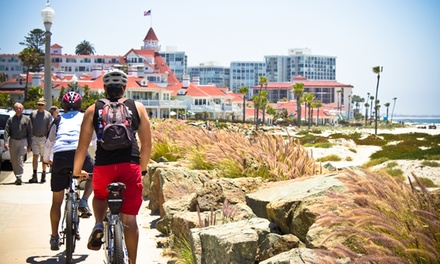 90-Minute Guided Bike Tour of Coronado Downtown for Two or Four from Bike & Kayak Tours (62% Off)