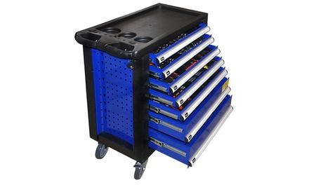 Home Deluxe Werkstattwagen in Blau mit 7 Schubladen und 2020-teiligem Zubehör  (Koln)