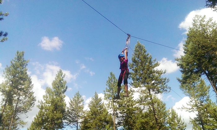 Adventure Dynamics - Nine Mile Falls: $29.99 for a Three-Hour Aerial Adventure with a Zipline at Adventure Dynamics ($65 Value)