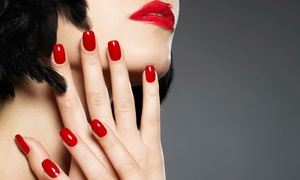 Salon West Studio & Spa: One or Two Basic Mani-Pedis or One Shellac Mani-Pedi at Salon West Studio & Spa (Up to 53% Off)