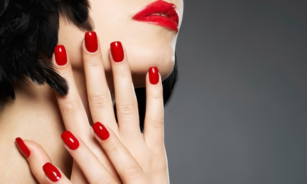 One or Two Basic Mani-Pedis or One Shellac Mani-Pedi at Salon West Studio & Spa (Up to 60% Off)