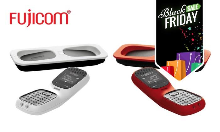 מיוחד ל-BLACK FRIDAY! טלפון אלחוטי חכם Fujicom תומך בעברית, עם bluetooth ויכולת סנכרון למכשיר הסלולרי, ב-129 ₪ בלבד
