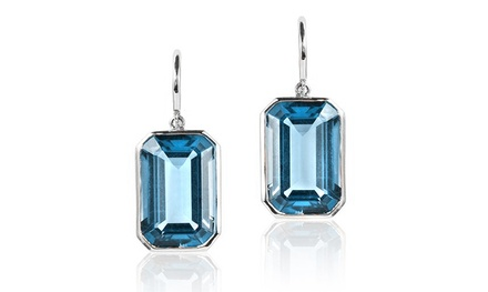 5.00 CTTW Genuine Topaz Earrings in Sterling Silver