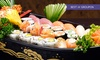 25, 35 o 50 varietà sushi con vino o birra