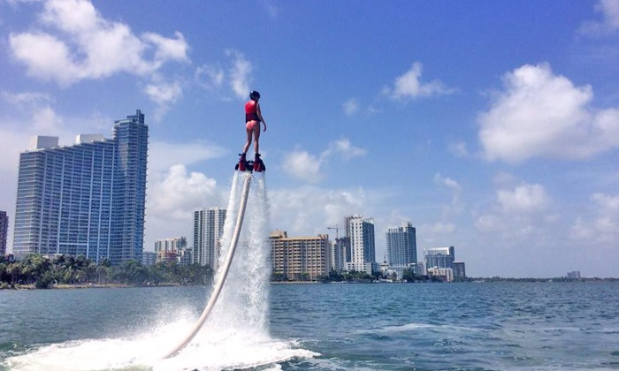 Miami Flyboard - Pier 1 Miami: Flyboarding Session for One or Two or Spectator Passenger Seat from Miami Flyboard (Up to 40% Off)
