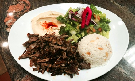 Mediterranean Meal for Two or Two $20 Vouchers at T&T Kabob House (Up to 44% Off)