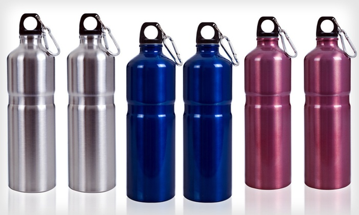 Stainless-Steel Water Bottles: $9 for Two-Pack of Whetstone Stainless-Steel Water Bottles ($19.99 List Price). Multiple Colors Available. Free Returns.