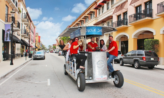 Cycle Party- Palm Beach - Downtown West Palm Beach: Two-Hour Pub Crawl on a 15-Person Bike from Cycle Party (50% Off). Two Options Available.