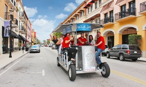 Cycle Party- Palm Beach: Two-Hour Pub Crawl on a 15-Person Bike from Cycle Party (50% Off). Two Options Available.