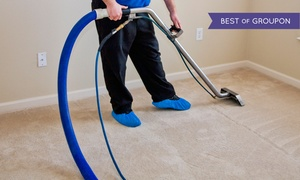 Pro Steamers.: Carpet Cleaning for Four Rooms and a Hallway, or Five Rooms from Pro Steamers (Up to 63% Off)