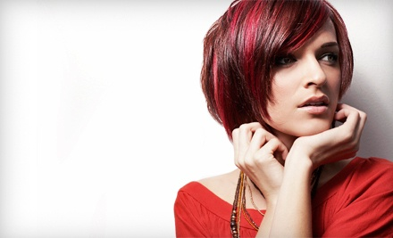 Haircut and Style with a Deep-Conditioning Treatment (a $45 value) - Salon Confessions in Lexington