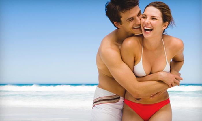 Glisten Airbrush Tanning - Glisten Sunless Tanning: One, Three, or Five Sunless Tans at Glisten Airbrush Tanning (Half Off)