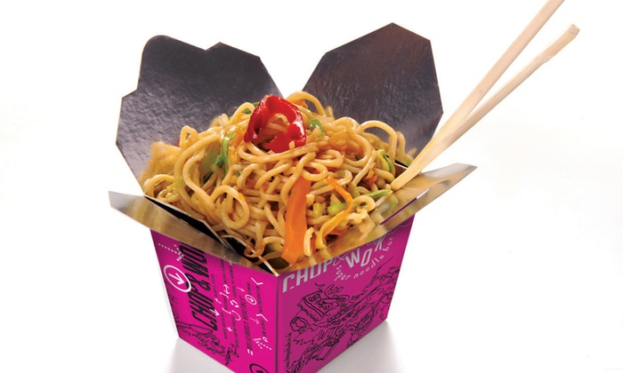 Wok Noodles, Rice or Fitness Box with a Can of Drink for Up to Four at Chop and Wok, Five Locations (Up to 48% Off)