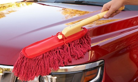 The Original California Car Duster with Wooden Handle