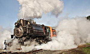 Mt. Rainier Scenic Railroad: Regular Steam Train Ride and Museum Visit for Two from Mt. Rainier Scenic Railroad and Museum (Up to 50% Off)