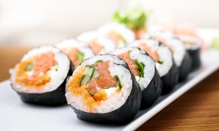 Mongolian Cuisine and Sushi at Kublai Khan (Up to 43% Off). Two Options Available.
